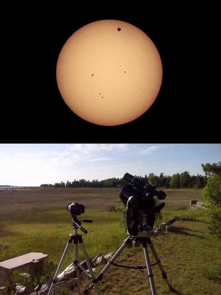 Transit of Venus June 5th 2012 by Stardaug. Ontario, Canada
