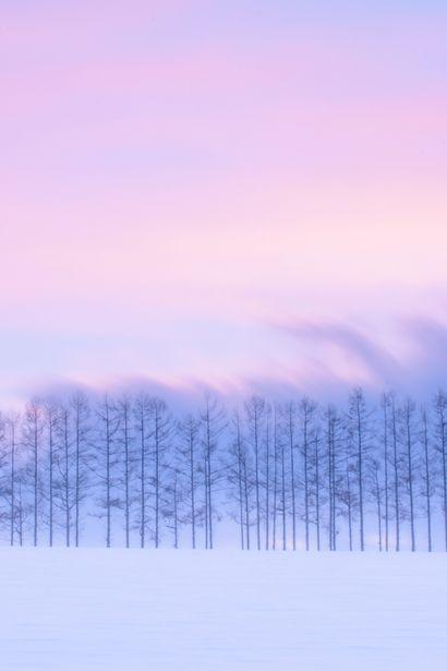 Silence, after sunset, Biei, Hokkaido, Japan, by momo-taro, on Ganref.
