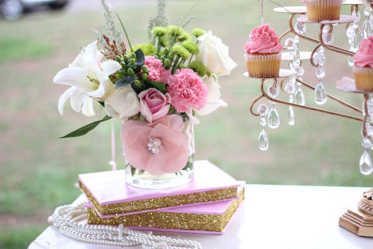 Pink & Gold Ballerina Birthday Party Ideas | Photo 6 of 21 | Catch My Party