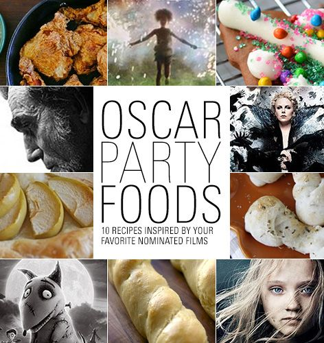 Oscar Party Foods: 10 recipes inspired by your favorite nominated films  @Shannon Holme i will make the philly cheese sliders.