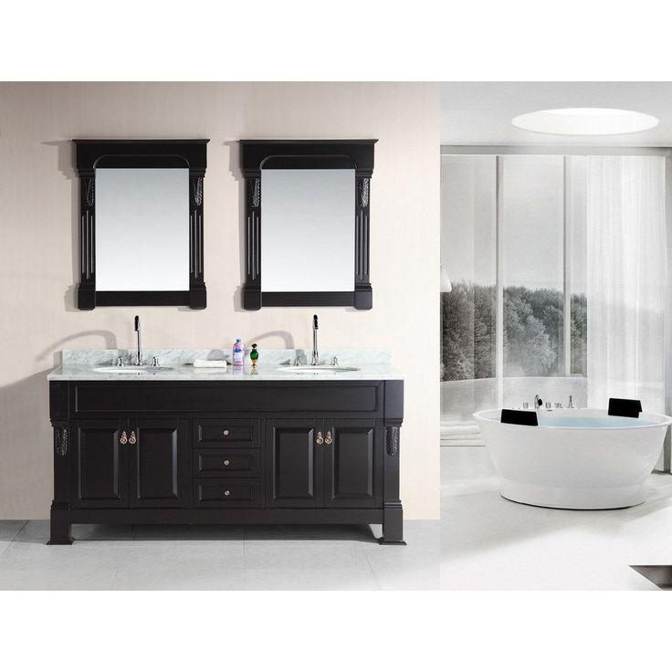 double sink vanity with top. Design Element DEC081 WTP Marcos 72  Double Sink Vanity Set in Espresso with Carrara Best 25 sink vanity top ideas on Pinterest