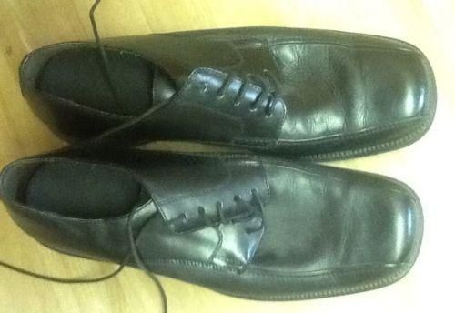Excess Kohls Arlo Black Size 13 MEns Leather Lace Up Dress Shoes, NICE !!