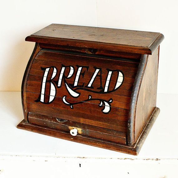 vintage roll top bread box 2