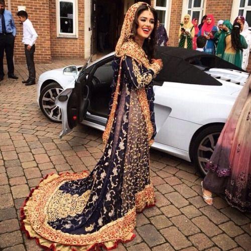 Pakistani Wedding Dress #MuslimWedding, #MuslimBridalDress www.PerfectMuslimWedding.com