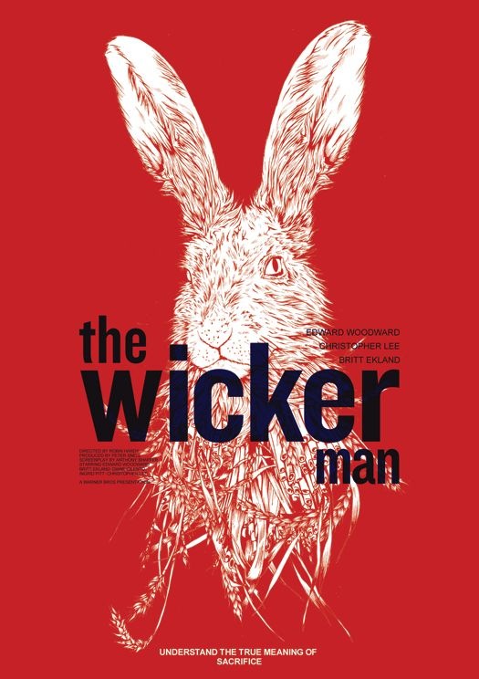 """""""When a young girl mysteriously disappears, Police Sergeant Howie travels to a remote Scottish island to investigate. But this pastoral community, led by the strange Lord Summerisle, is not what it seems."""" Find THE WICKER MAN in our catalog: http://highlandpark.bibliocommons.com/item/show/1359994035_the_wicker_man"""