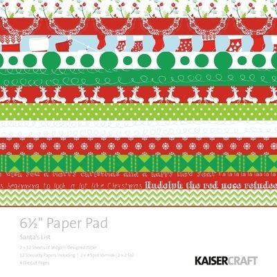 Santas List Paper Pad 6.5