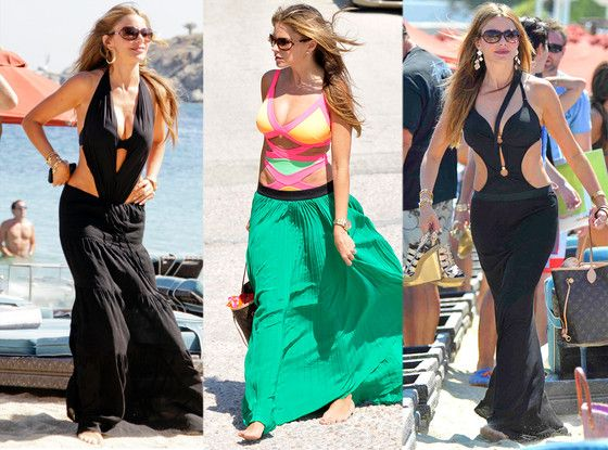 Sofia Vergara should just live in monokinis! #fashion