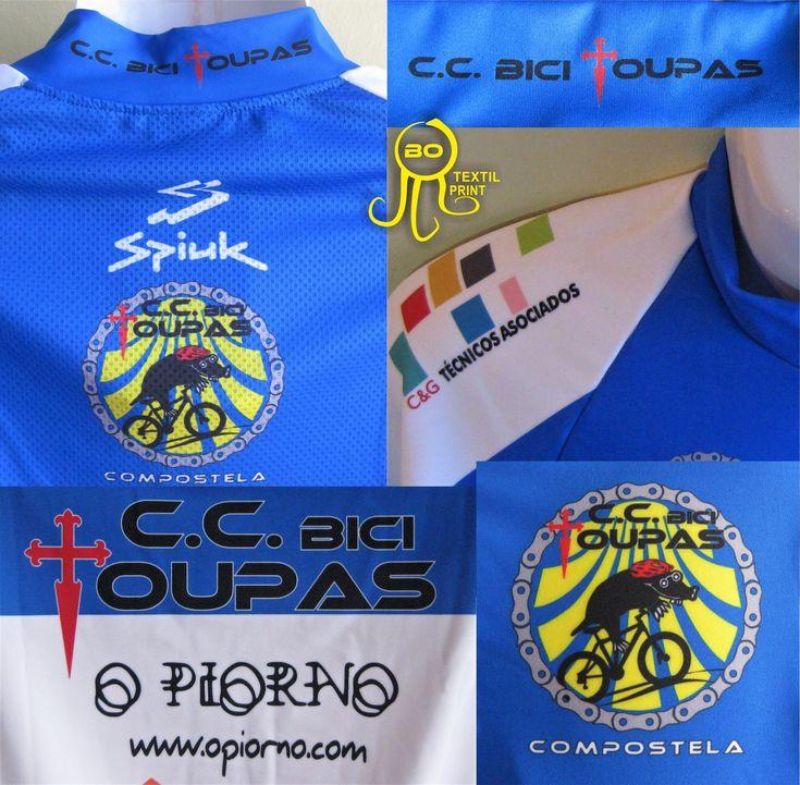Detalles equipaciones, realizadas con sublimación. #bicicleta #botextilprint #bordado #sublimacion #serigrafia #vinilotextil #coruña #chaleco #bici #btt #ciclismo #cycling #bike #biketeam #deporte #sport #diseño #maillot #culotte