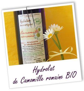 """SOMMEIL Mélange """"Bonne nuit"""" ■ 50 ml Hydrolat de Camomille Romaine +  150 ml Hydrolat de Fleurs d'oranger ■ 1 CS du mélange le soir au coucher."""