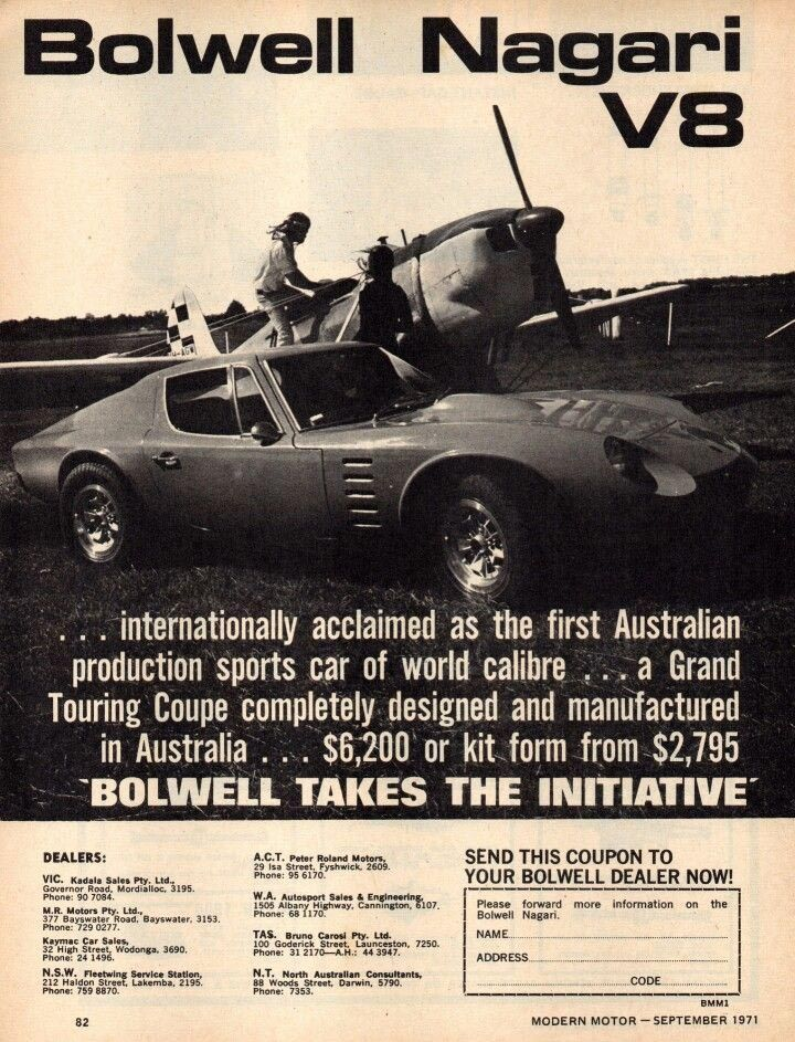 Bolwell Is An Australian Company That Originally Produced Sports Cars  Between 1962 And 1979. A New Company Of The Same Name Began Production Of  Newu2026