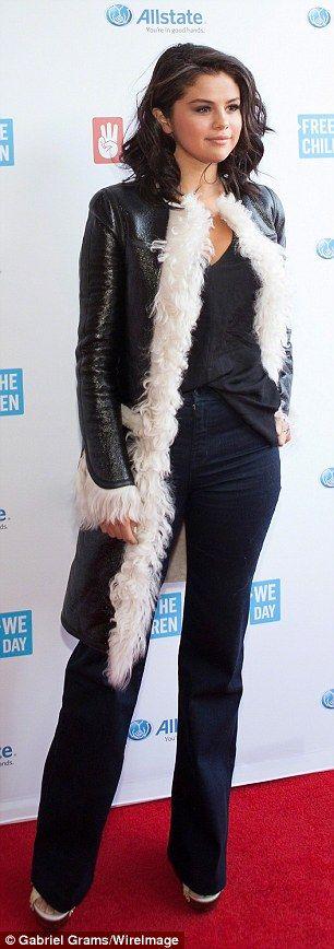 Selena Gomez and Jennifer Hudson rock head-to-toe black outfits #dailymail
