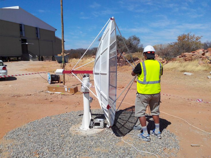 Spider230 #radiotelescope installed by one of our customers in Botswana! Ready to record radio waves coming from space! #radioastronomy