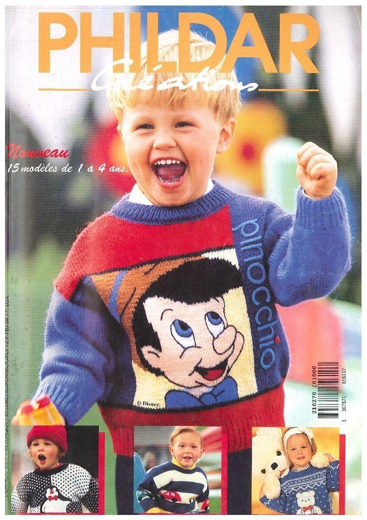 N° 270 PHILDAR enfants automne - hiver 1995- PDF   Tricot gratuit phildar, Modele tricot gratuit ...