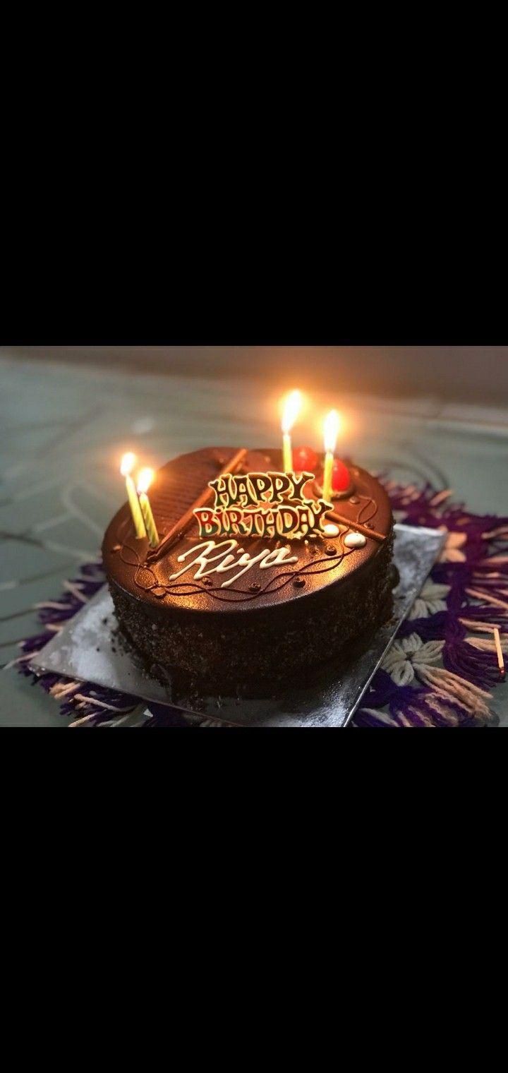 Happy Birthday Cake Riya Happy Birthday Cakes Birthday Candles Birthday