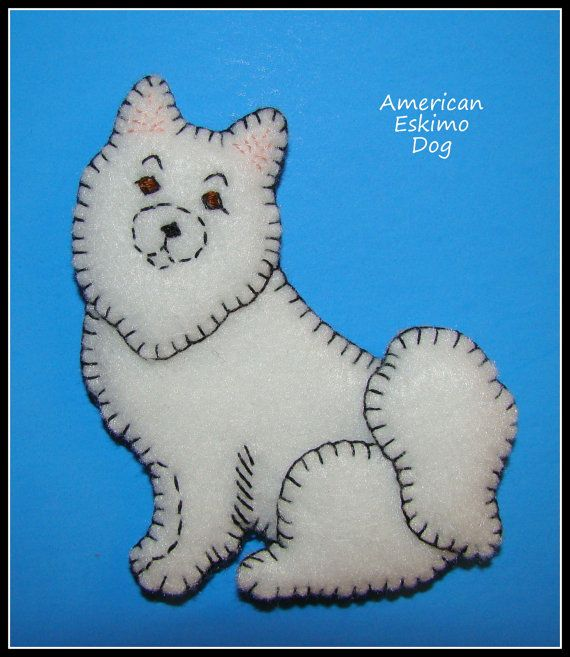 American Eskimo Dog-Refrigerator Magnet-Ornament by justsue