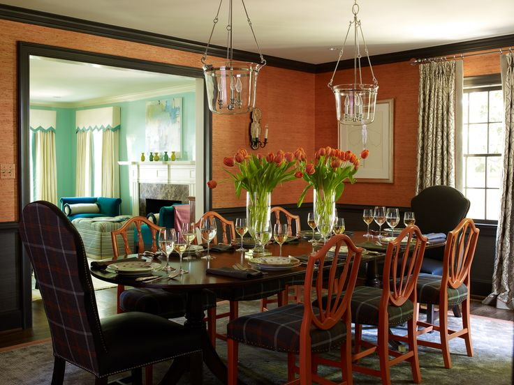 15 Best Paint Colors Images On Pinterest  Bedrooms Color Brilliant Orange Dining Room Table Inspiration Design