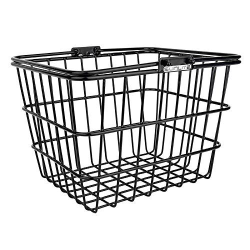 """The Sunlite Mini Wire Lift-Off Basket w/ Bracket in multiple colors       Famous Words of Inspiration...""""Love is agrowing, to full constant light; and his first minute, after noon, is night.""""   John Donne — Click here for more from John... more details available at https://perfect-gifts.bestselleroutlets.com/gifts-for-babies/kids-bikes-accessories/product-review-for-sunlite-mini-wire-lift-off-basket-w-bracket/"""