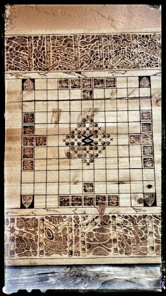 Hnefatafl Board Game Vikings Game Kings Table Tafl by PrimalForged