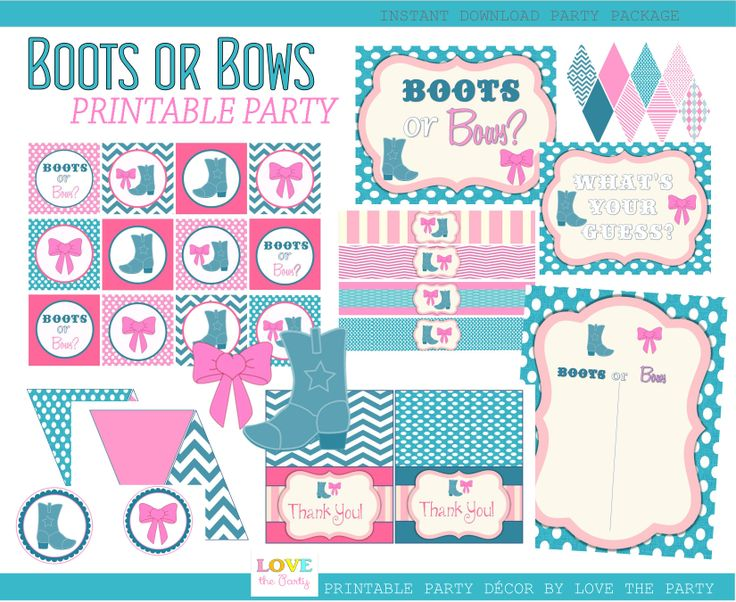 17 Best Images About Boots And Bows Gender Reveal On