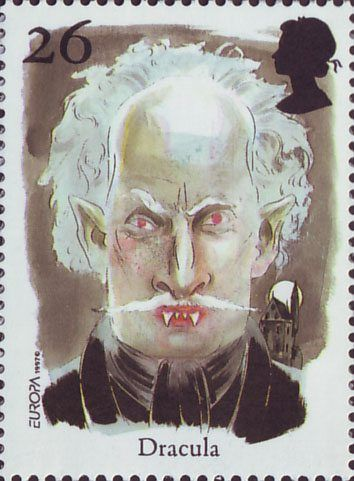 Europa. Tales and Legends. Horror Stories 26p Stamp (1997) Dracula