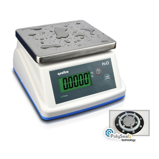 Timbangan Meja Portable H2O. Digital Water-proof Scale H2O by QUATTRO