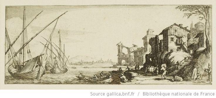 [Les quatre paysages]. [4], [Le petit port] : [estampe] / [Jacques Callot] - 1