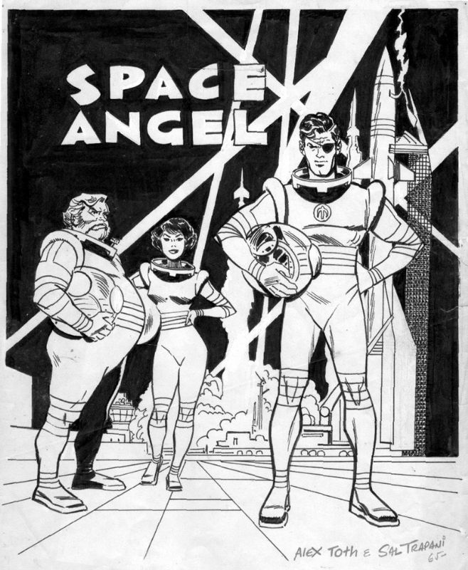 TOTH, ALEX - Space Angel promotional poster color art, in Stephen Donnelly's TOTH, ALEX - comic book artwork (stories,pages); animation Comic Art Gallery Room - 366769