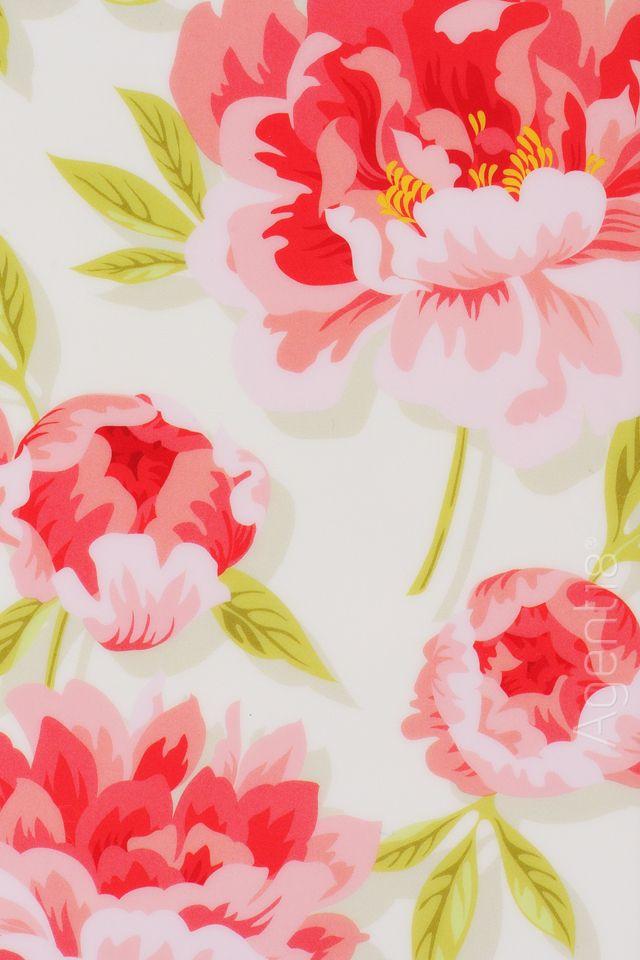 Vintage floral pattern (peony)