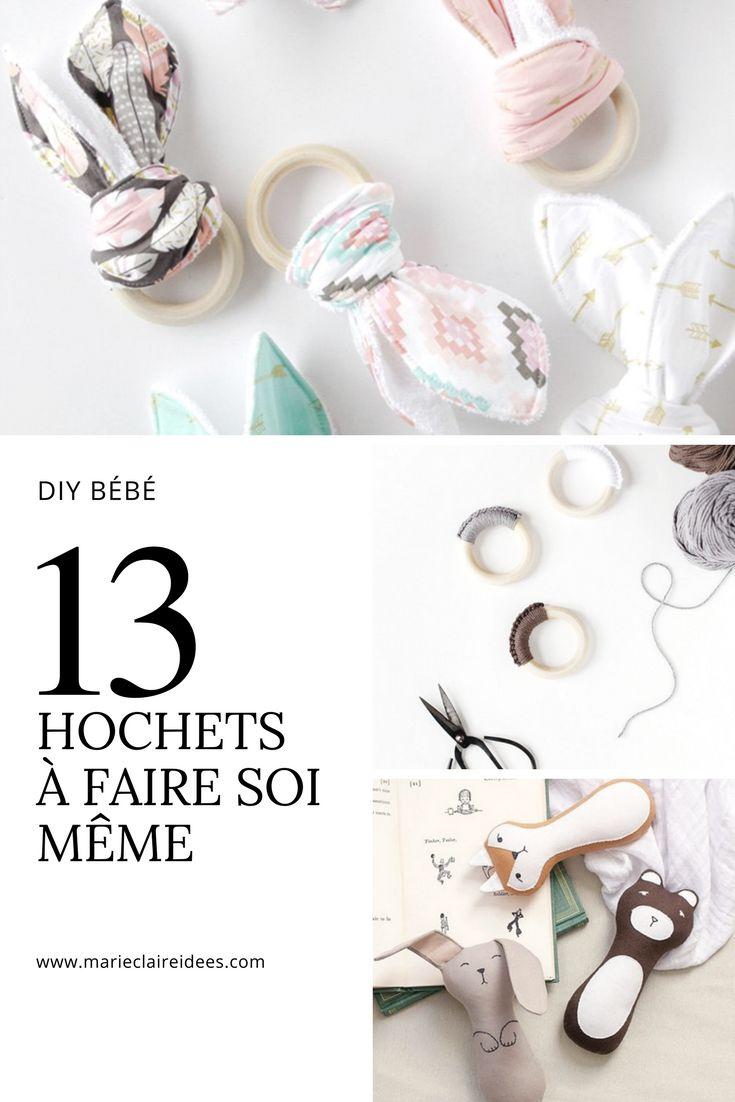 Hochets pour bébé à faire soi même / Tutoriel hochet / diy hochet bébé / fabriquer un hochet
