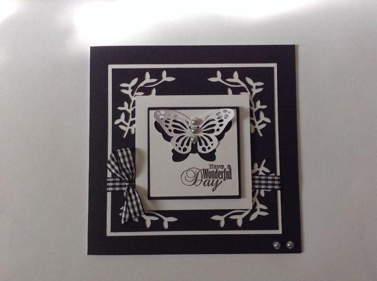 Handmade black/white greeting card