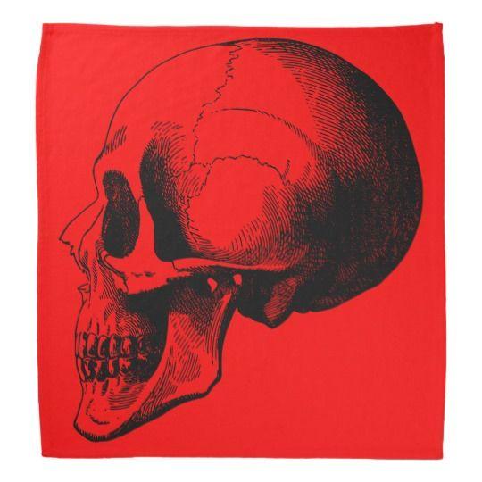 #zazzle #Skull #Bandana,#Red Bandana #head #gift #giftidea