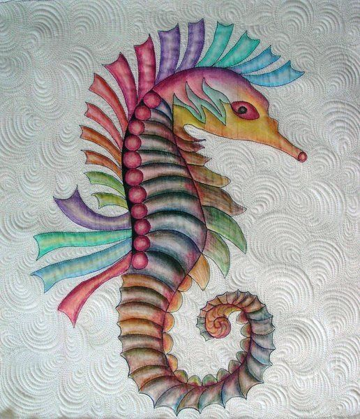 Quilt Painted With Color Pencils