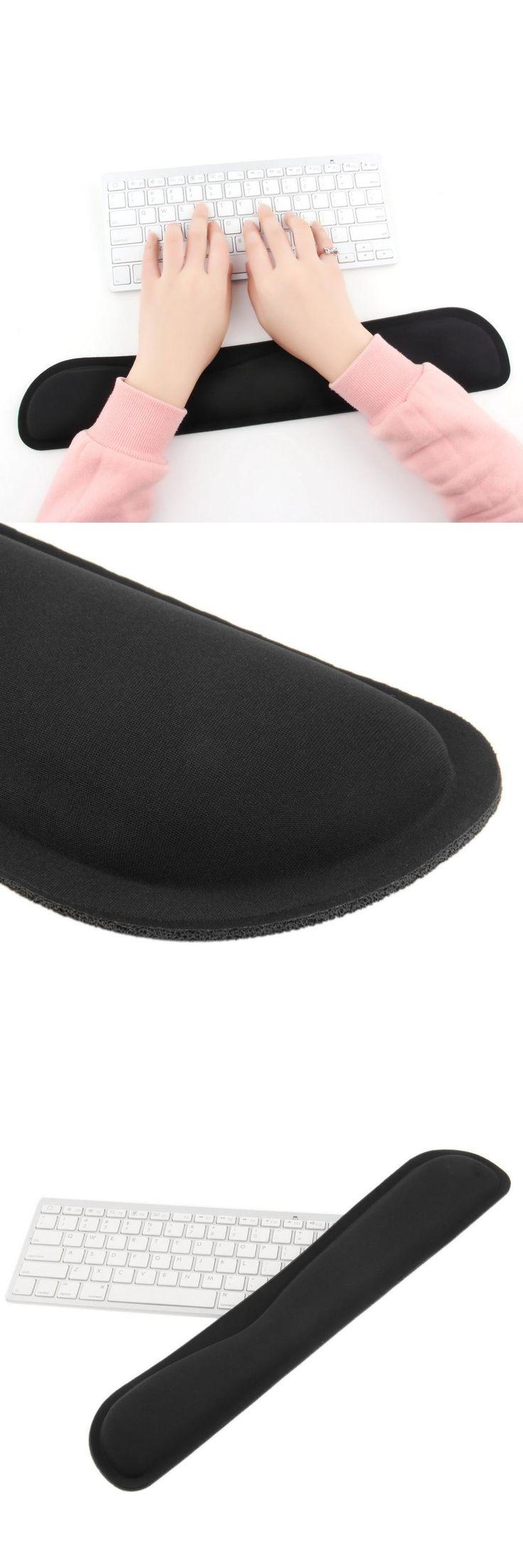 [Visit to Buy] 1pcs Black Support Comfort Gel Wrist Rest Pad for PC Keyboard Raised Platform Hands #Advertisement