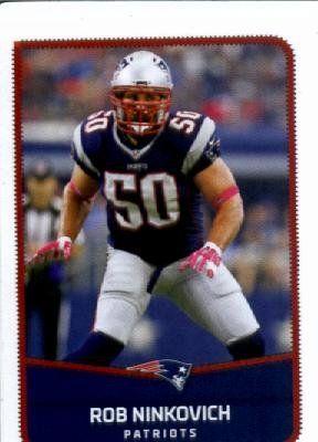 2016 Panini NFL #54 Rob Ninkovich New England Patriots Football Sticker
