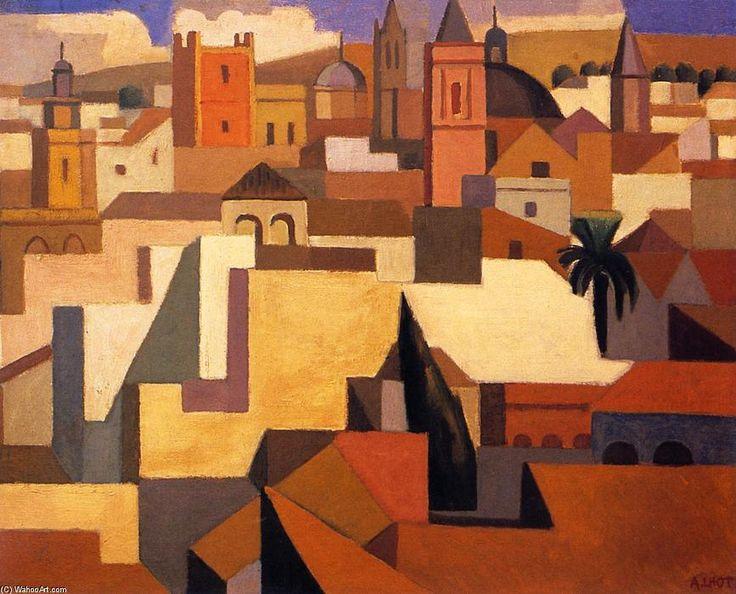 'Séville', huile sur panneau de Andre Lhote (1885-1962, France)