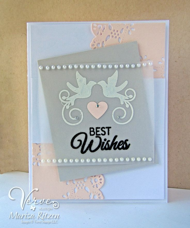 wedding anniversary greeting cardhusband%0A Hand stamped card by Marisa Ritzen using the Love Story stamp set from  Verve