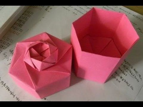 Easy to do. Origami gift box for St Valentine's Day - YouTube