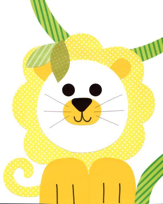 Selva con temas vivero arte imprimir bebé habitación