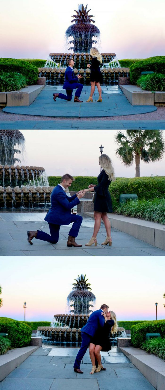He took her to South Carolina for the cutest proposal in Charleston!
