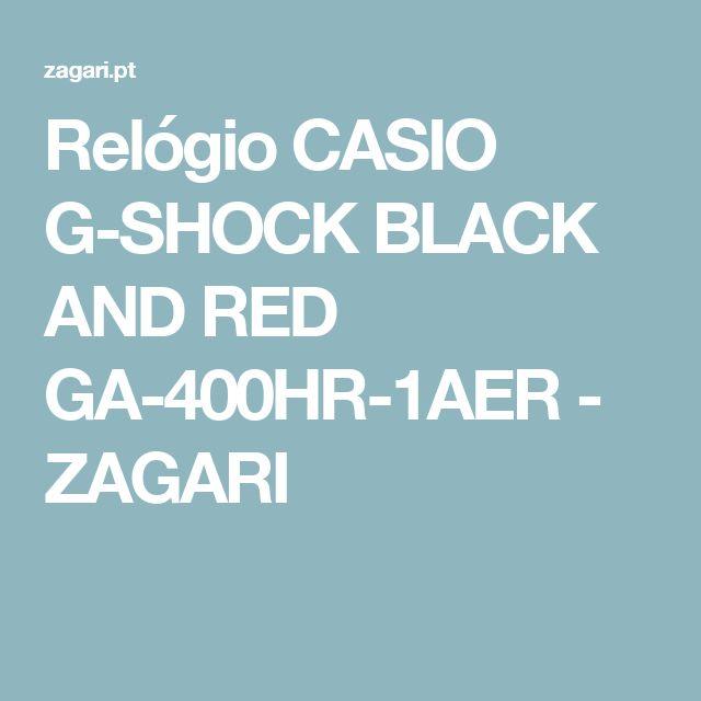 Relógio CASIO G-SHOCK BLACK AND RED GA-400HR-1AER - ZAGARI