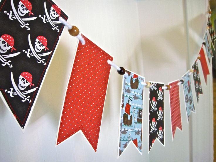 Pirate Banner Pirate Garland Boys Bedroom Banner by RedBirdBanners, $23.00