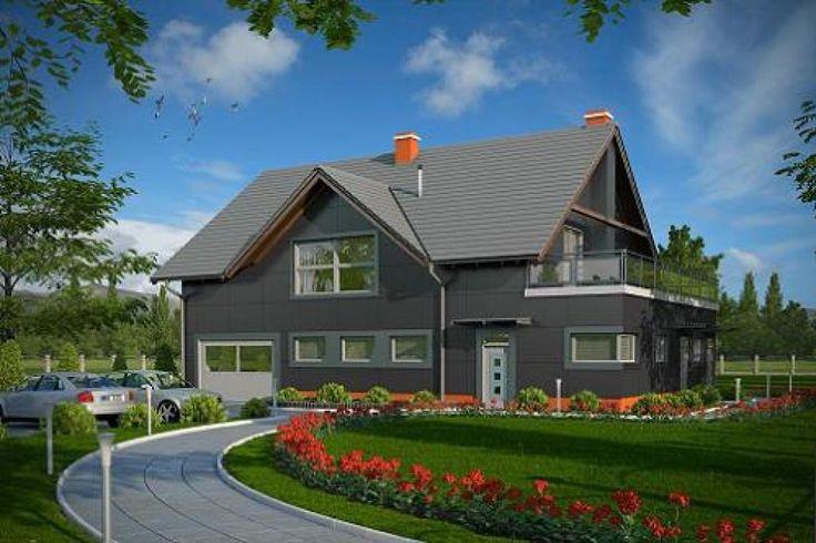 Projekt budynku produkcyjno-mieszkalnego, parterowy z poddaszem mieszkalnym, bez podpiwniczenia K-35.