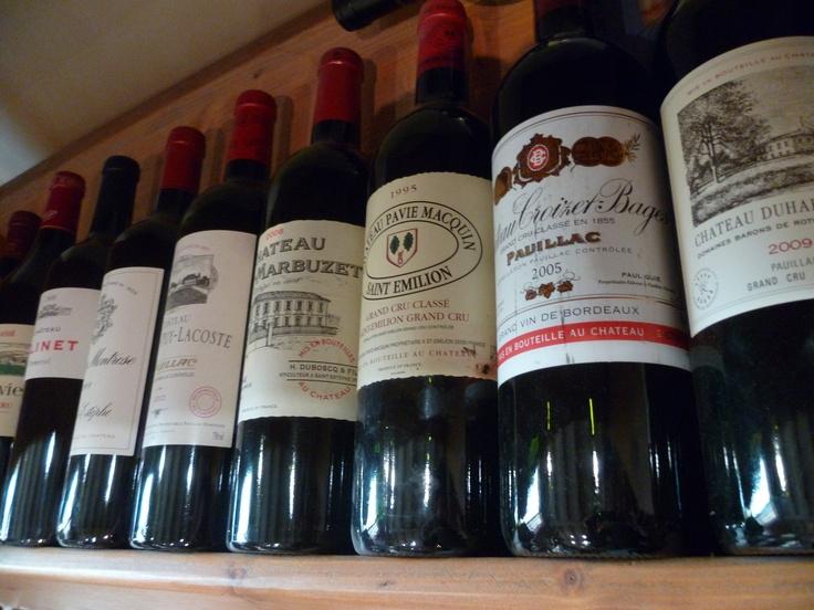 Les vins de Bordeaux: Château Pavie Macquin, Duhart-Milon,Haut-Marbuzet,Croizet-Bages...
