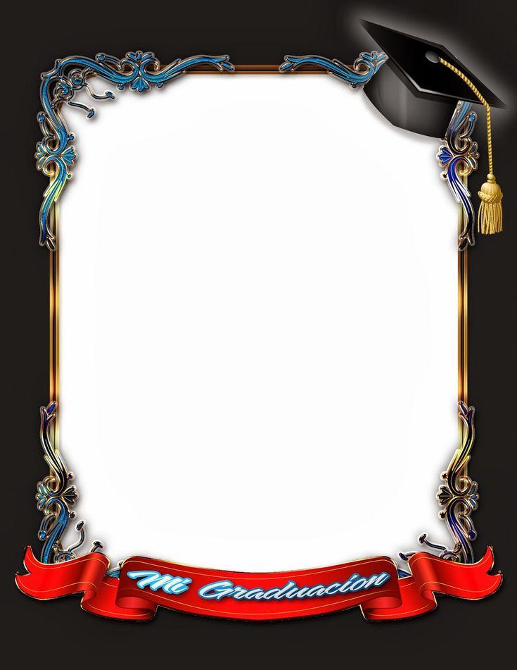 Elegante marco para fotos de graduación   Frames