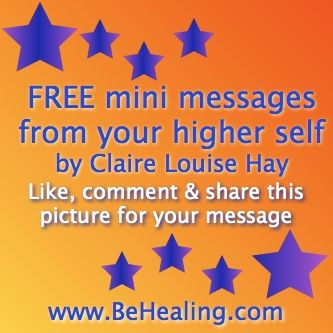 I'm giving FREE mini messages from your higher self Visit www.facebook.com/behealing for yours!
