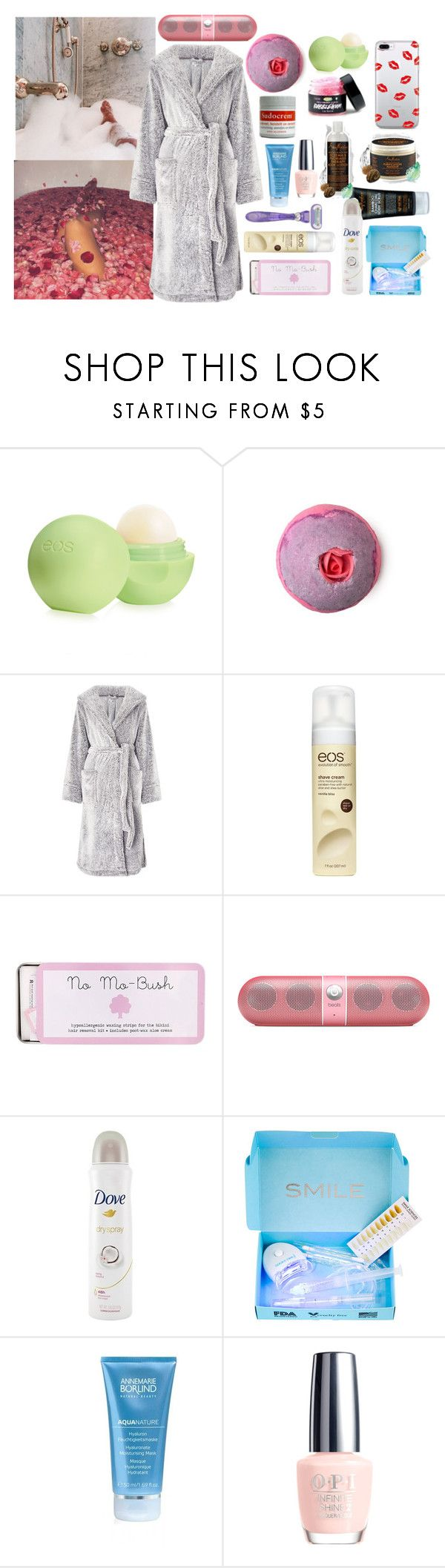 """""""Pamper day"""" by bibi-martens on Polyvore featuring mode, Eos, John Lewis, Therapy, No Mo, Beats by Dr. Dre, Smile Sciences, Annemarie Borlind en OPI"""