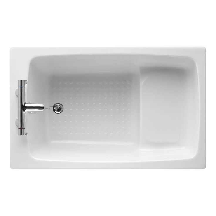 armitage shanks showertub 120 x 75cm rectangular shower bath no grips two tapholes space saving ideasnarrow