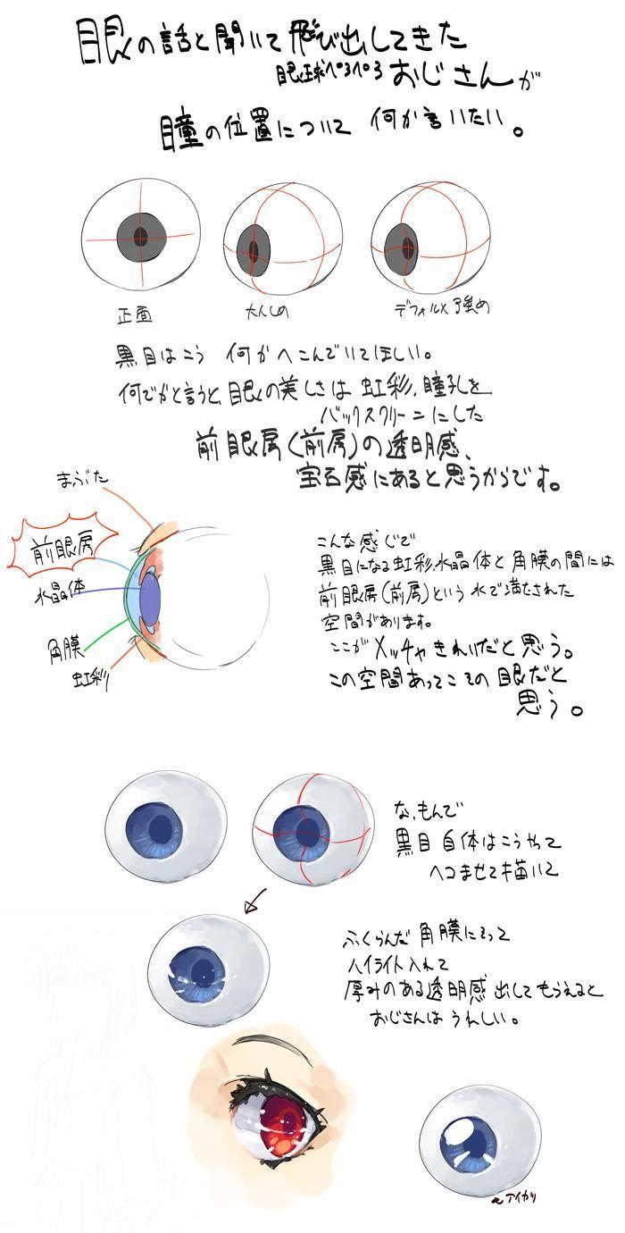 """""""眼球の描き方の話しました??????????????"""""""