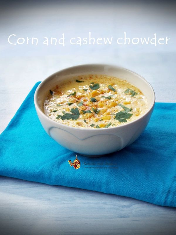 Supa crema de porumb cu caju (chowder) http://www.retetelemeledragi.com/2016/03/5-retete-de-supa-crema-de-post.html/