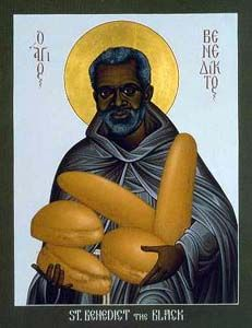 Saint Benedict the Black, pray for us and African missions and African Americans.  Feast day April 4.